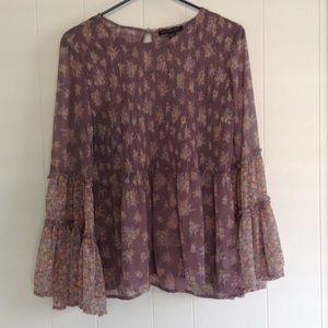 Pretty Boho sheer blouse